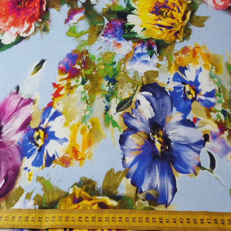Jersey Fabric Floral 2113 T10 - The Fabric Bee