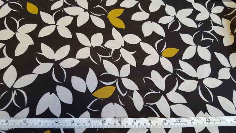 Polyester Floral Chiffon 4848 Lime/Black - The Fabric Bee