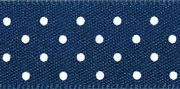 Micro Dot Ribbon Navy - The Fabric Bee