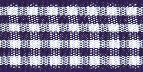 Gingham Ribbon Navy - The Fabric Bee