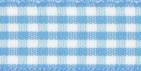 Gingham Ribbon Sky Blue - The Fabric Bee