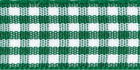 Gingham Ribbon Hunter Green - The Fabric Bee