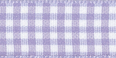 Gingham Ribbon Lilac - The Fabric Bee