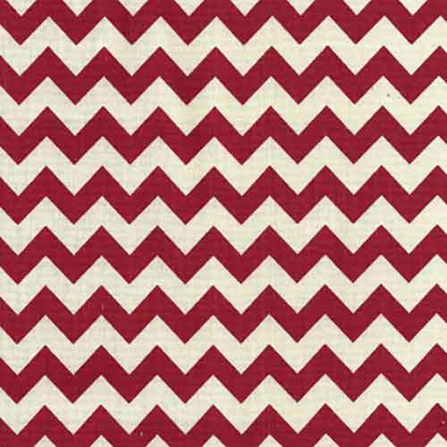 Cotton Canvas 84002 Red Chevron - The Fabric Bee