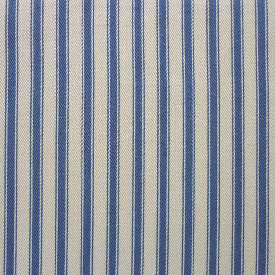"Cotton Ticking 137cm/54"" Wide Woven Blue Stripe"