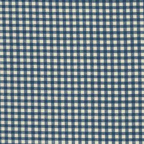 Cotton Canvas 91258 Blue Check - The Fabric Bee