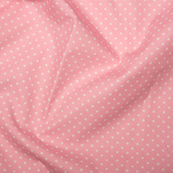 Cotton Poplin CP0009 3mm Spot Mid Pink