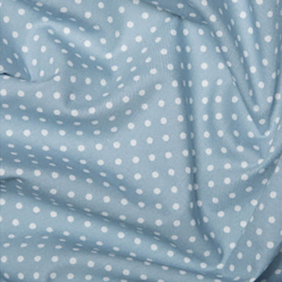 Cotton Poplin CP0009 3mm Spot Pale Blue