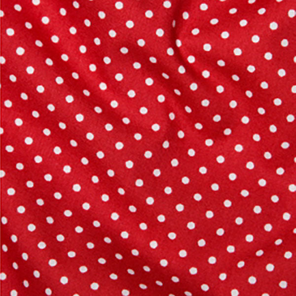 Cotton Poplin CP0009 3mm Spot Red