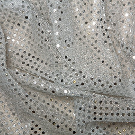 Sequin Knit Fabric Silver C1778 - The Fabric Bee