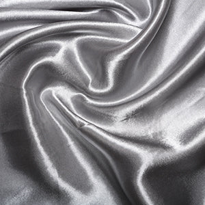 Polyester Budget Satin Silver Grey - The Fabric Bee
