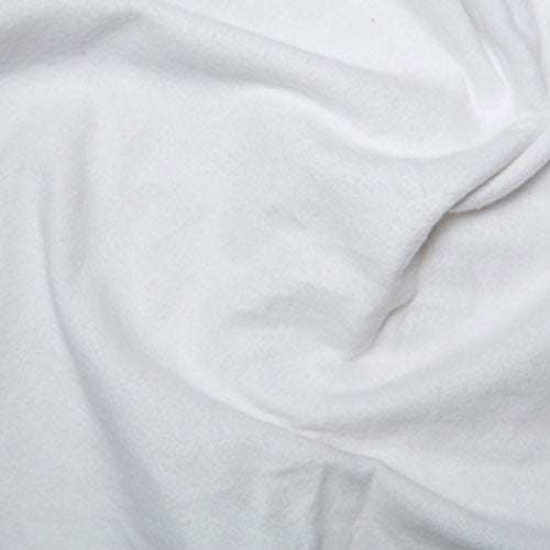 Brushed Cotton Flannel White
