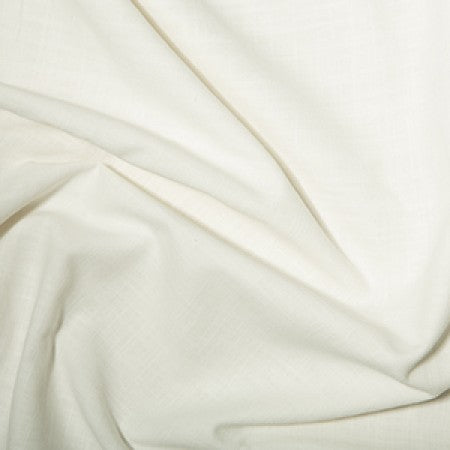Medium Weight Cotton Linen Look Ivory - The Fabric Bee