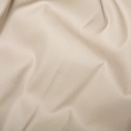 Cotton Sateen with Stretch Beige - The Fabric Bee