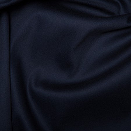 Cotton Sateen with Stretch Navy - The Fabric Bee