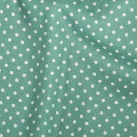 Cotton Poplin CP0009 3mm Ice Green Spot - The Fabric Bee