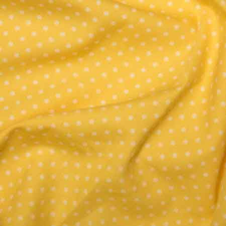 Cotton Poplin CP0009 3mm Lemon Spot - The Fabric Bee