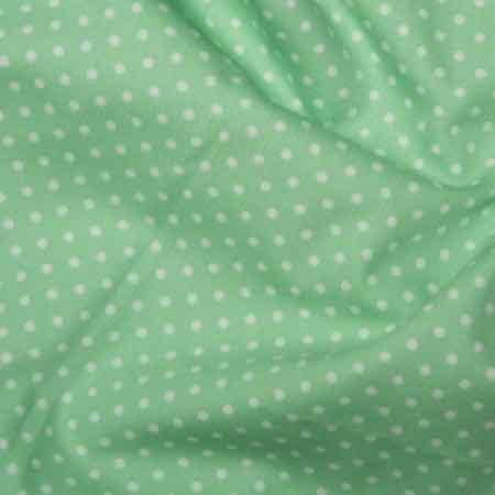 Cotton Poplin CP0009 3mm Pistachio Spot - The Fabric Bee