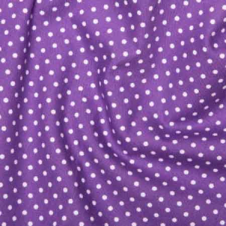 Cotton Poplin CP0009 3mm Purple Spot - The Fabric Bee
