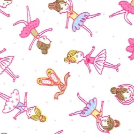 Cotton Poplin Ballerinas Pink CP0164 - The Fabric Bee