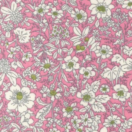 Cotton Poplin Floral Pink CP0221 - The Fabric Bee