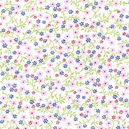 Cotton Poplin Ditsy Floral Pink - The Fabric Bee