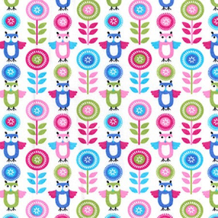 Cotton Poplin Owls CP0718 - The Fabric Bee