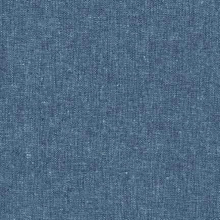 Essex Yarn Dyed Linen/Cotton Blend Peacock E064-1282 - The Fabric Bee