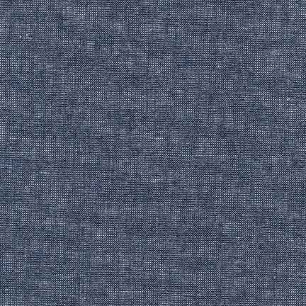 Essex Yarn Dyed Linen/Cotton Blend Metallic Midnight E105-1232 - The Fabric Bee