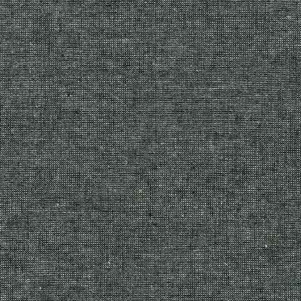 Essex Yarn Dyed Linen/Cotton Blend Metallic Ebony E105-364 - The Fabric Bee