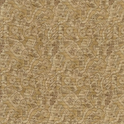 Tan Patchwork Fabric F631 - The Fabric Bee