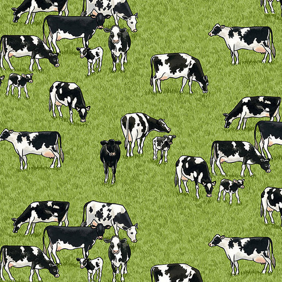 Makower UK Village Life 2293/1 Cows F6829