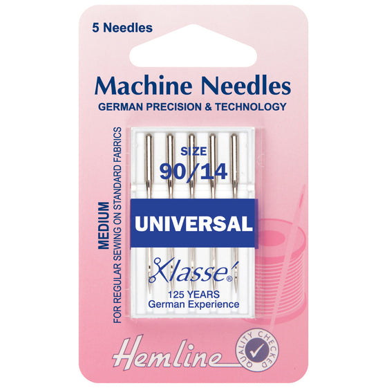 Klasse Sewing Machine Needles - Universal 90/14 H100.90 - The Fabric Bee