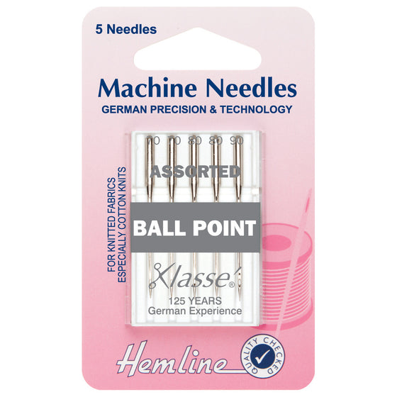 Klasse Sewing Machine Needles - Ball Point Assorted H101.99
