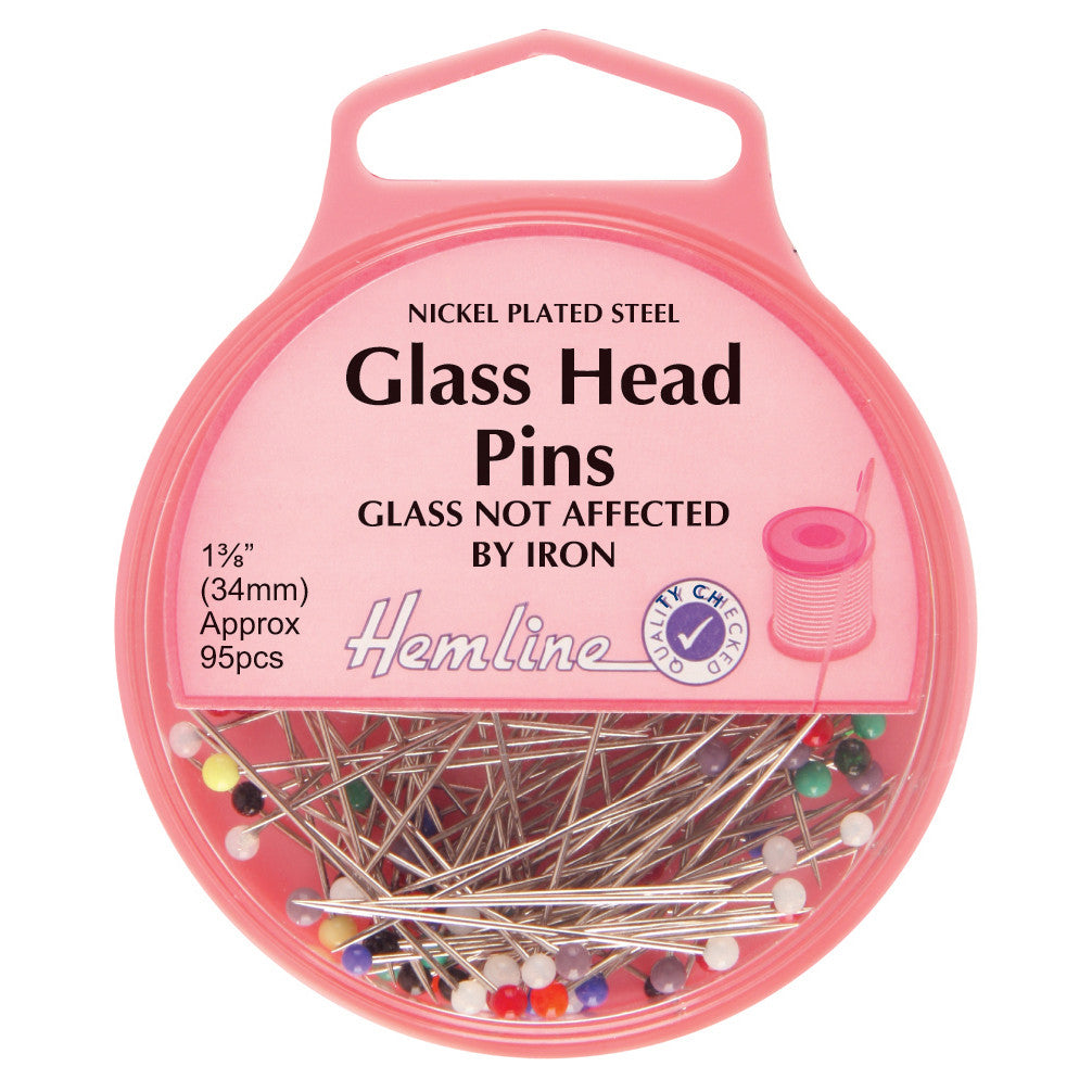 Glass Head Pins H679 - The Fabric Bee