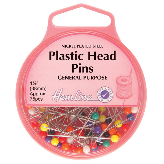 Plastic Headed Pins H706 - The Fabric Bee