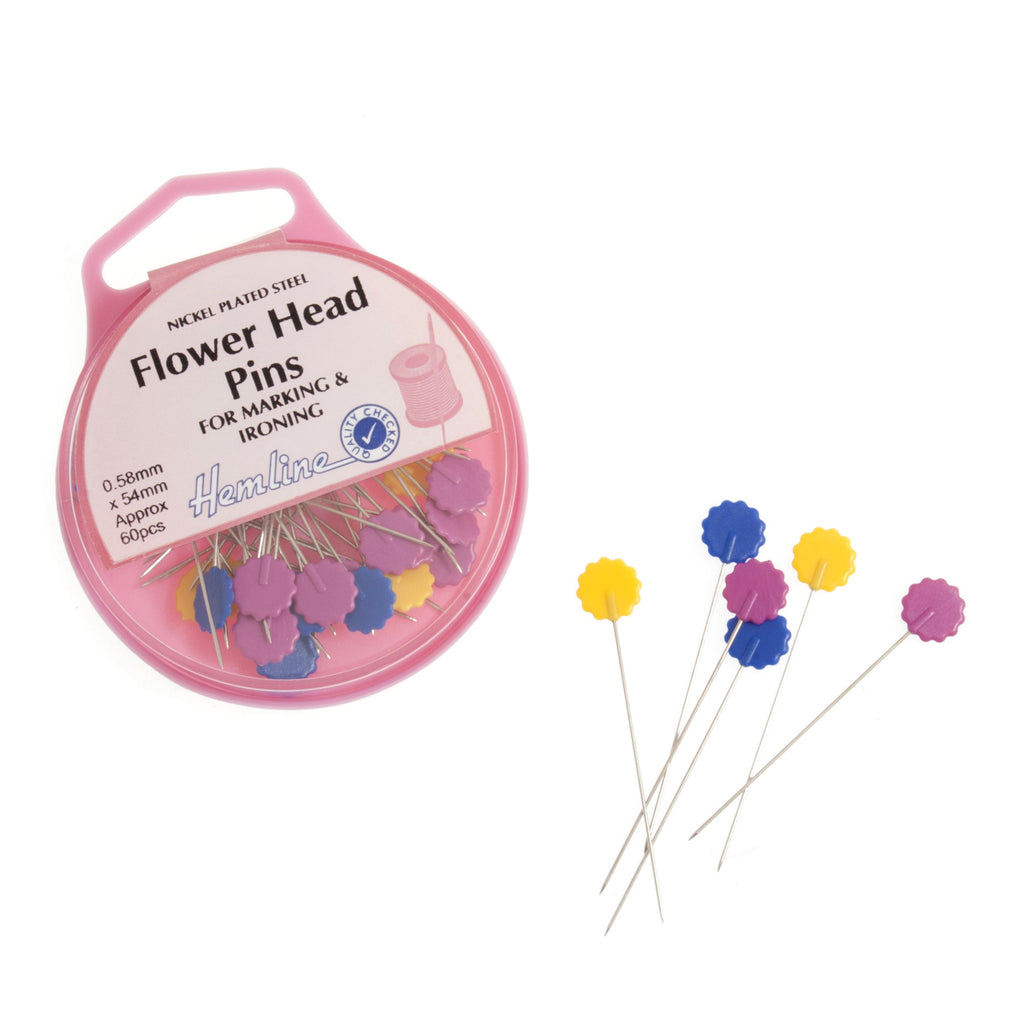 Flower Head Pins H707 - The Fabric Bee