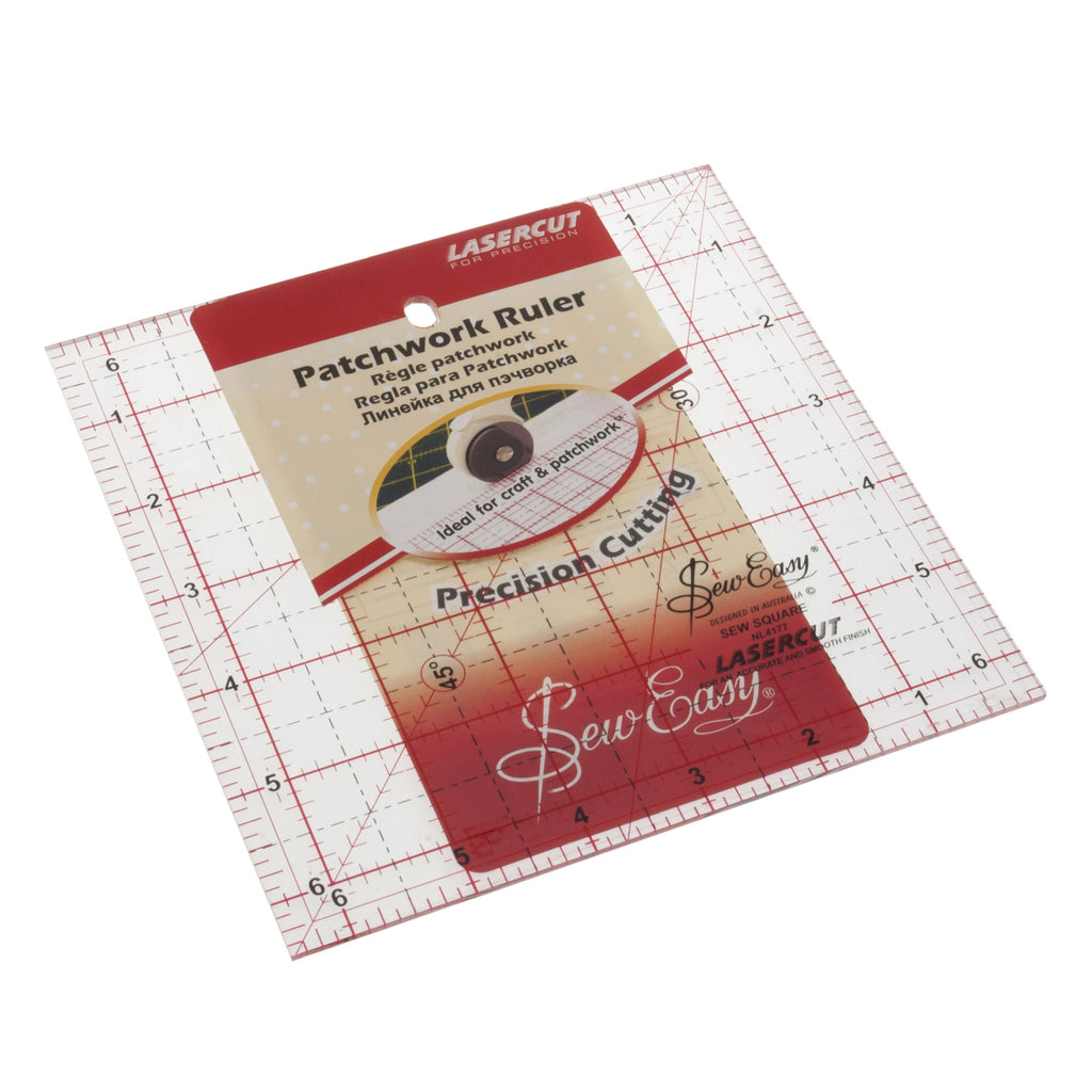 "Sew Easy Ruler 6.5"" x 6.5"" NL4177 - The Fabric Bee"