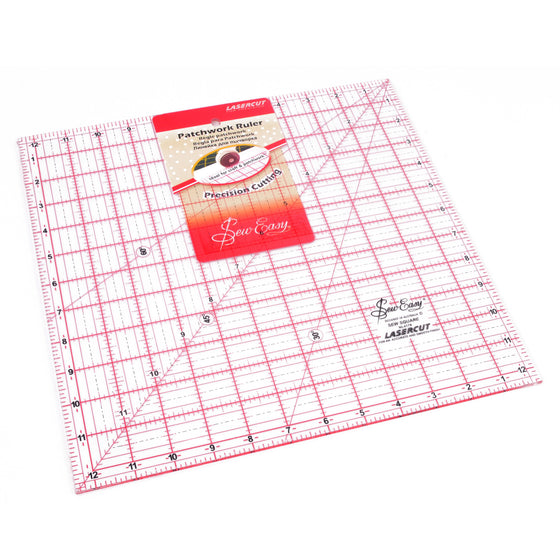 "Easy Ruler 12.5"" x 12.5"" NL4178 - The Fabric Bee"