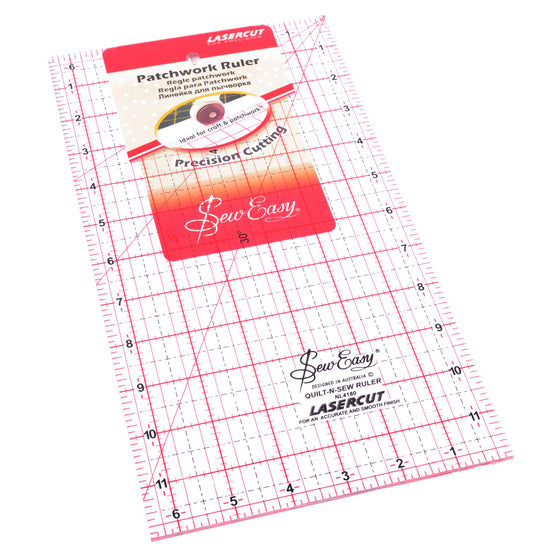 "Sew Easy Ruler 12"" x 6.5"" NL4180 - The Fabric Bee"