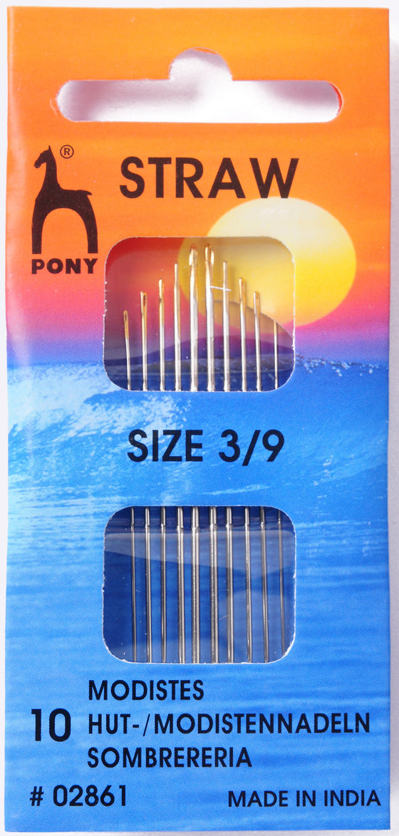 Pony Hand Sewing Needles Straw 3/9 P02861 - The Fabric Bee