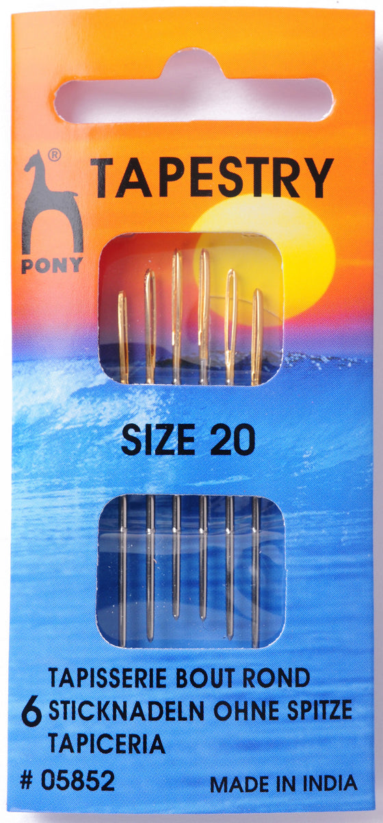 Pony Hand Sewing Needles Tapesry size 20 P05852