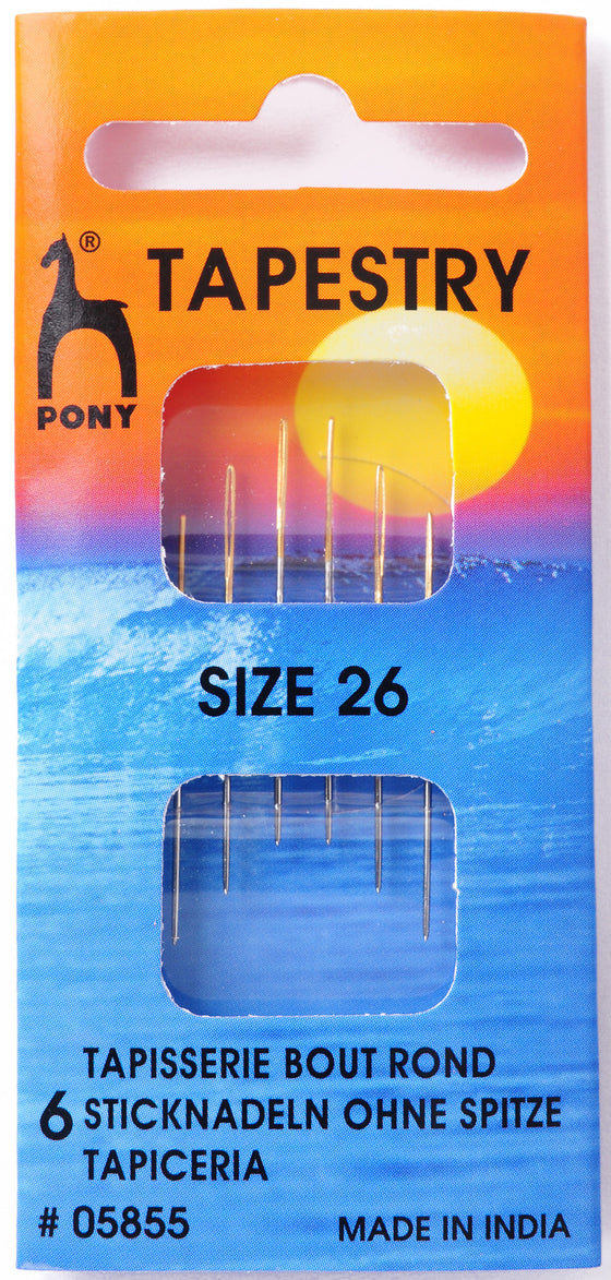 Pony Hand Sewing Needles Tapesry size 26 P05855 - The Fabric Bee