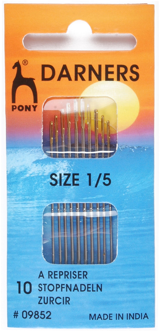 Pony Hand Sewing Needles Darners 1/5 P09852 - The Fabric Bee