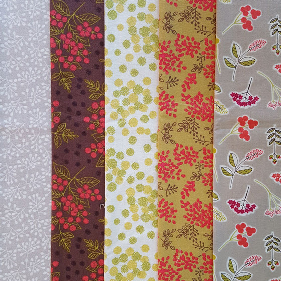 Lewis and Irene Arboretum 5 Fat Quarter Pack B