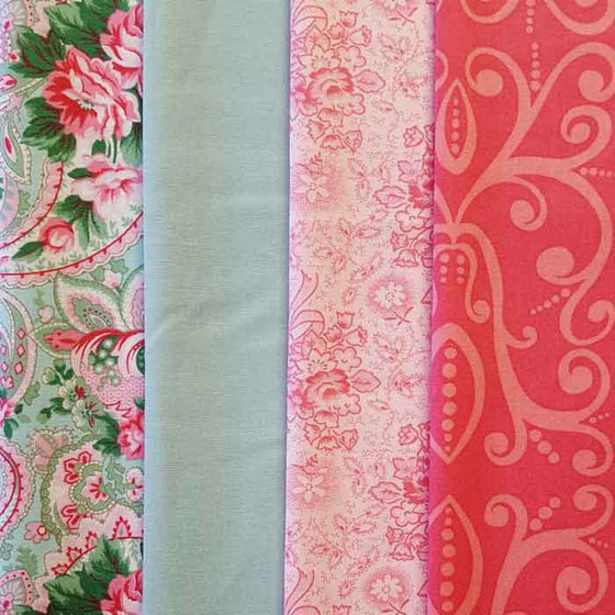 Bows and Roses 4 Fat Quarter Pack