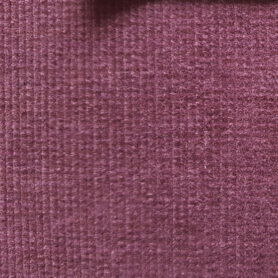 Needlecord Cotton with Stretch Aubergine - The Fabric Bee
