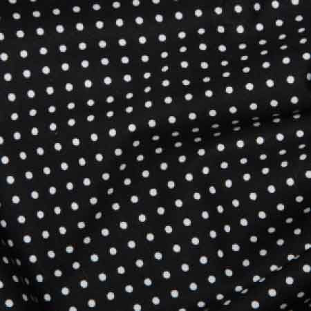 Cotton Poplin CP0009 3mm Black Spot