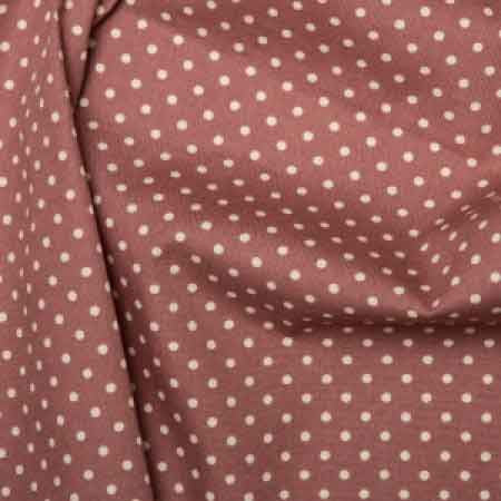 Cotton Poplin CP0009 3mm Deep Rose Spot