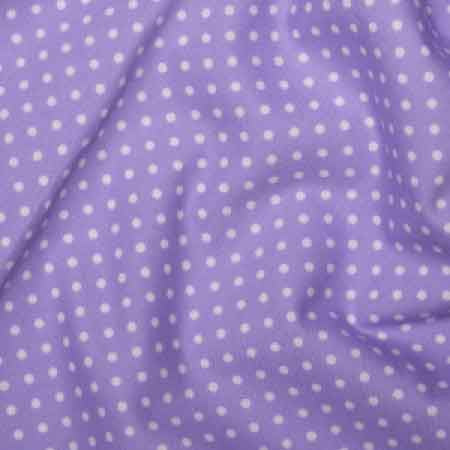 Cotton Poplin CP0009 3mm Lilac Spot - The Fabric Bee